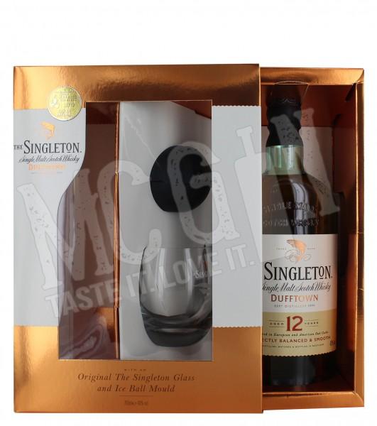 Singleton Of Dufftown 12 Jahre mit Glas und Eiswürfelform- 0.7L - 40% - 801 (Glasflasche)