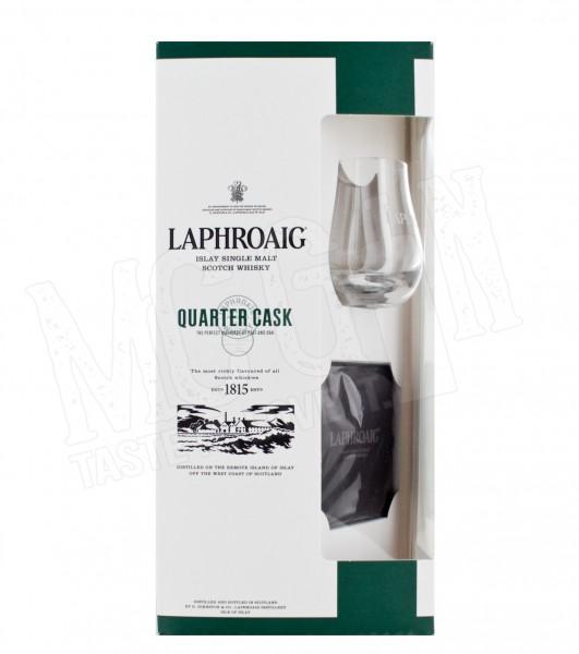 Laphroaig Quarter Cask - 0,7L + Glas + Schieferuntersetzer