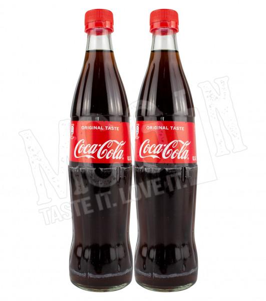 Coca Cola - 2x 0,5L Glasflasche