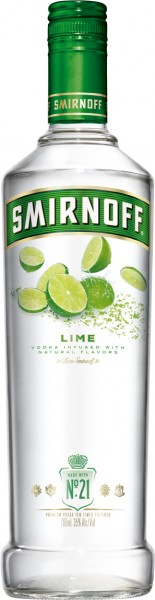 Smirnoff Flavours Vodka Lime - 0.7L