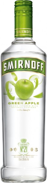 Smirnoff Flavours Vodka Green Apple - 0.7L