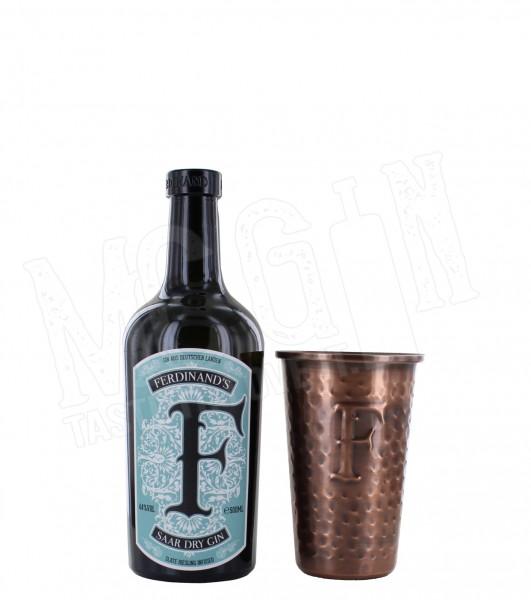 Ferdinand's Saar Dry Gin - 0.5L + Kupferbecher