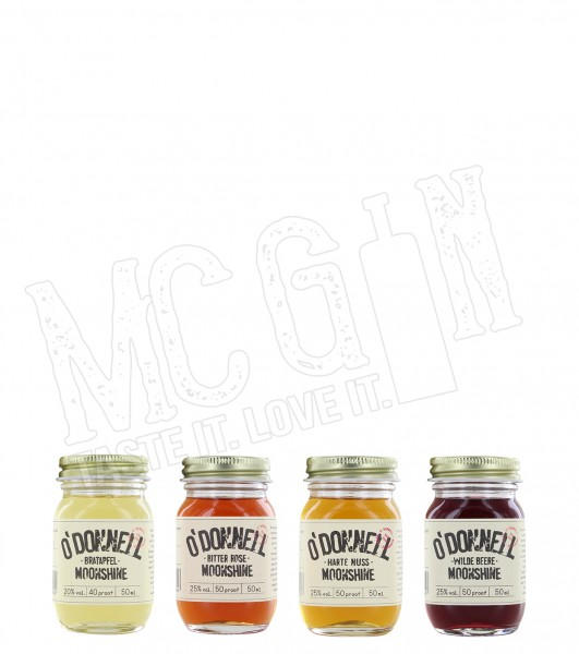 O'Donnell Moonshine Mini Jar-Set - 4x 50ml